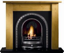 Gallery Henley Cast Iron Arch Solid Fuel Package
