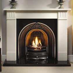 Gallery Landsdowne Cast Iron Arch Solid Fuel Package