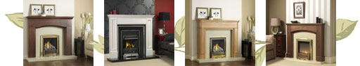 Some of the Laura Ashley range of fires and fireplaces